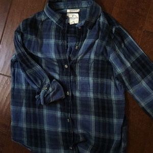 American Eagle Plaid Blouse